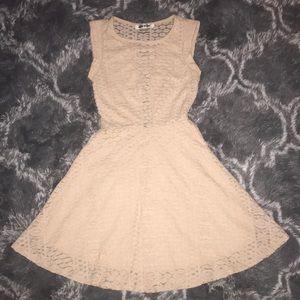 Cream skater dress ✨💛